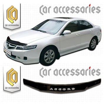 Изображение Дефлектор капота (Черный) Honda Accord L-7, L-8, L9, 2006 (арт 192)
