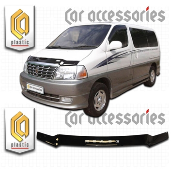 Изображение Дефлектор капота Toyota Grand Hiace 1999-2002 черныйx