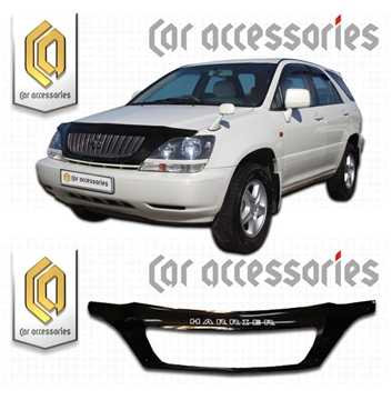 Изображение Дефлектор капота Toyota Harrier, U10W, U15W, 1997-2002 (арт.409) черный