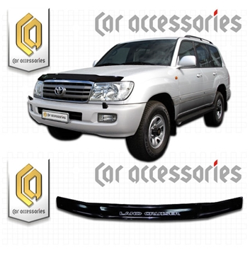 Изображение Дефлектор капота Toyota Land Cruiser 100, J100;J105, 1998-2002 черный