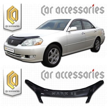Изображение Дефлектор капота Toyota Mark-2, X110-X115, 2000-2002 черный